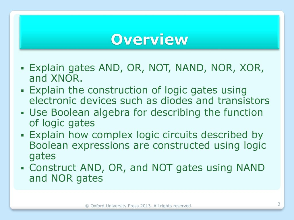 And Or Nand Nor Xor Xnor boolean algebra & logic gates - ppt download