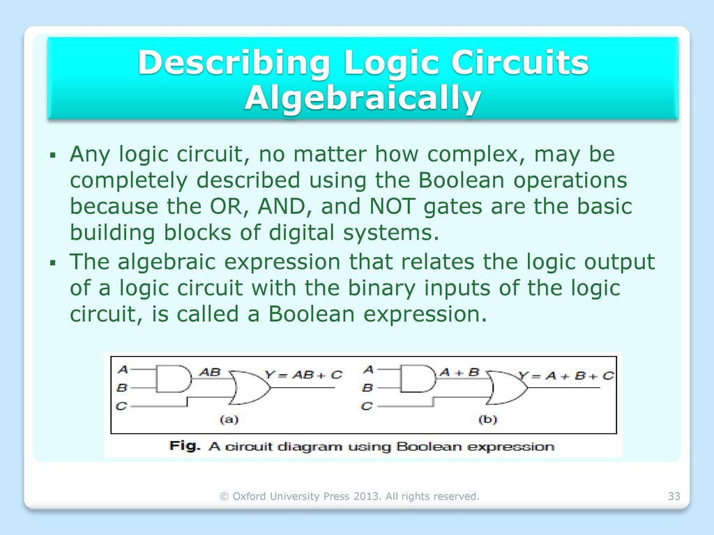 Boolean Algebra Logic Gates Ppt Download Circuit Diagram To Expression Describing Circuits Algebraically