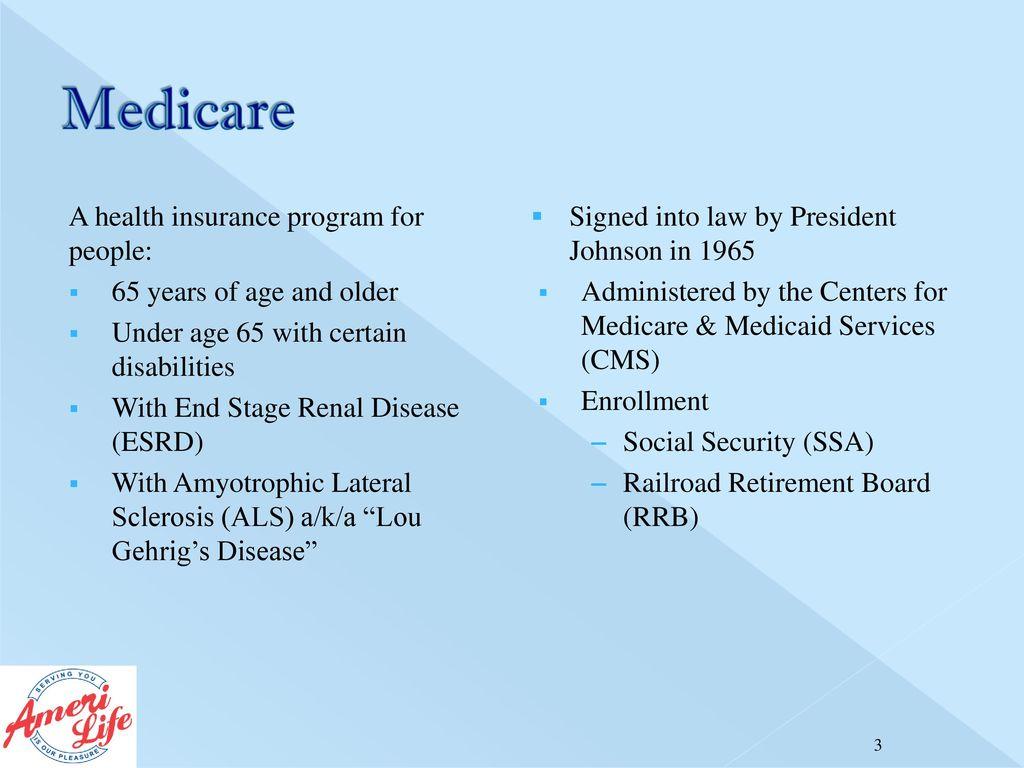 Medicare Part A Medicare Part B Medicare Part C Medicare
