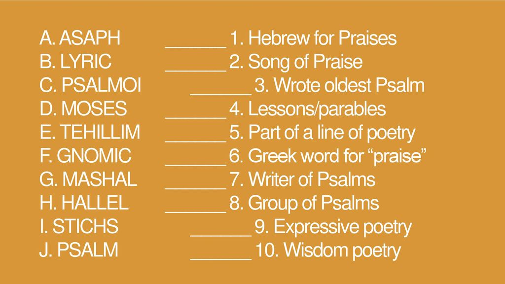 4 Nature Psalms  - ppt download