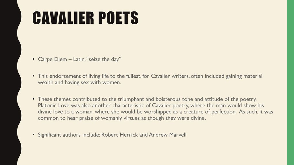 The Cavalier Metaphysical Neoclassical And Romantic Poets Ppt