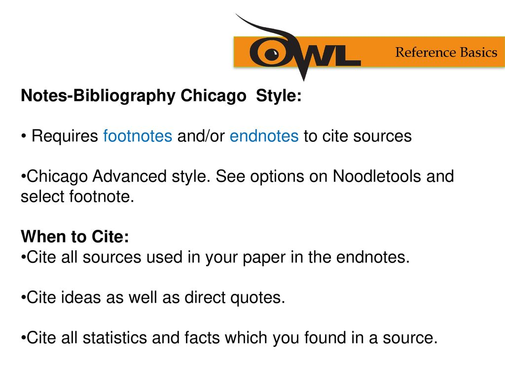 notes bibliography chicago style