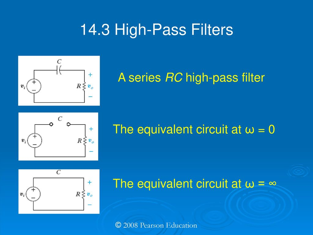 Electric Circuits Eighth Edition Ppt Download Step Voltage Input Rc Low Pass Filter Circuit 143 High Filters A Series