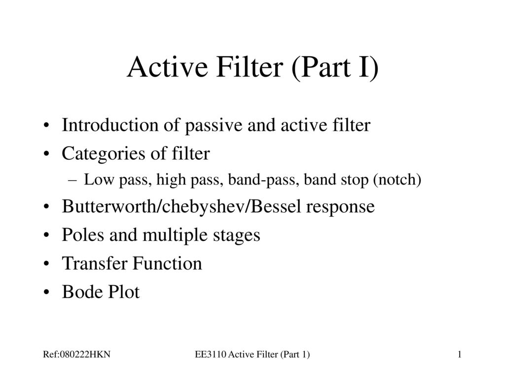 Ee3110 Active Filter Part 1 Ppt Download Low Pass This Simple Circuit Is Nonlinear Passive On