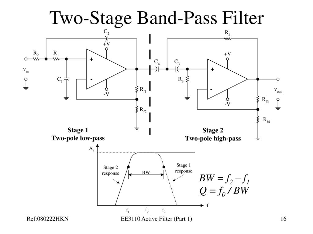 Ee3110 Active Filter Part 1 Ppt Download Band Pass Circuit Diagram Two Stage