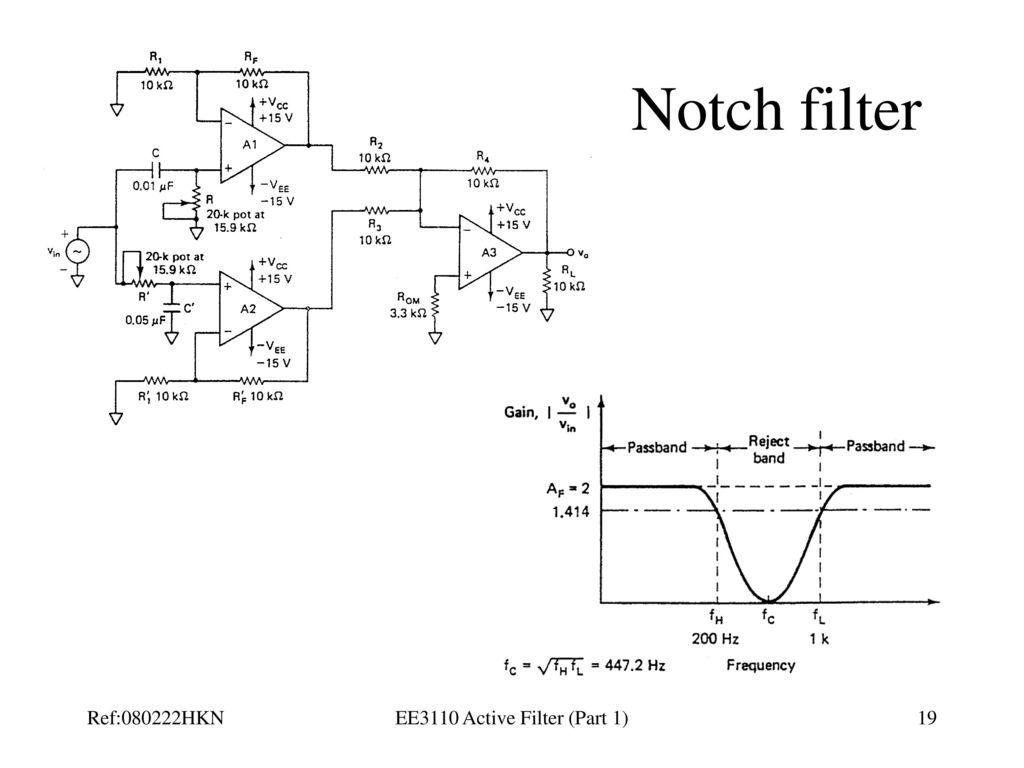 Ee3110 Active Filter Part 1 Ppt Download Notch Circuit Diagram