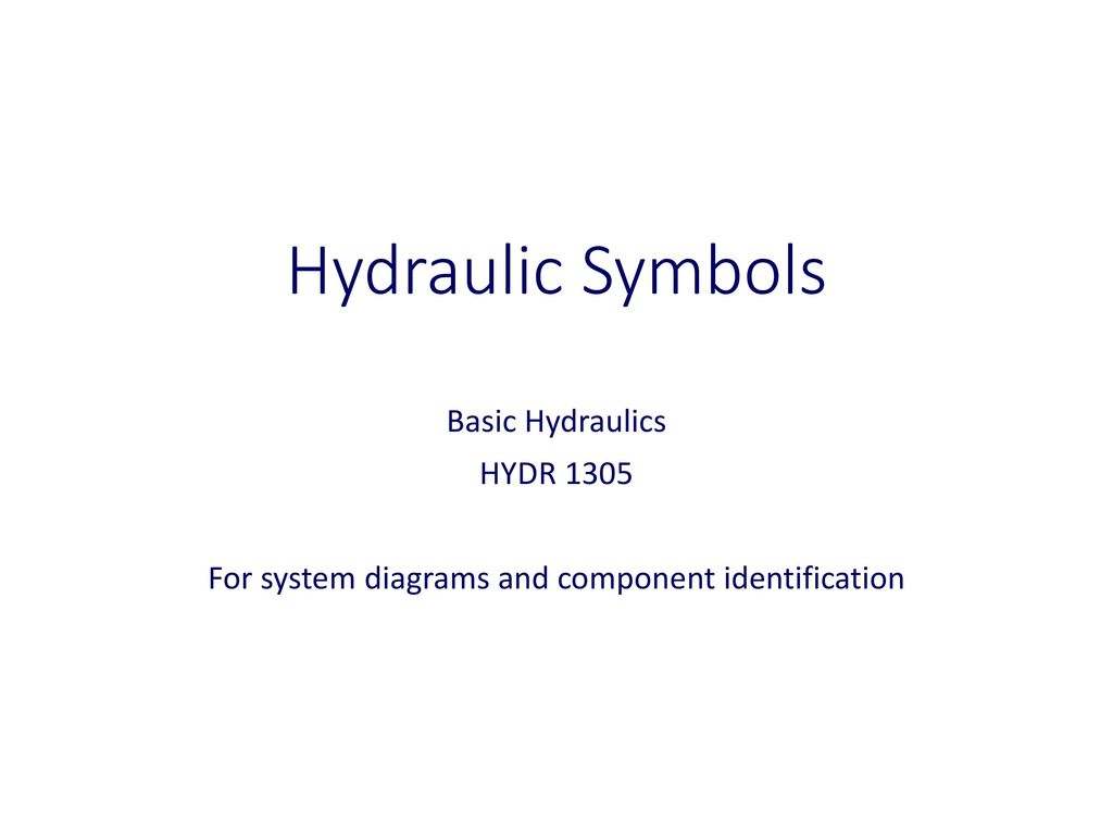 For System Diagrams And Component Identification Ppt Download Basic Hydraulic Diagram