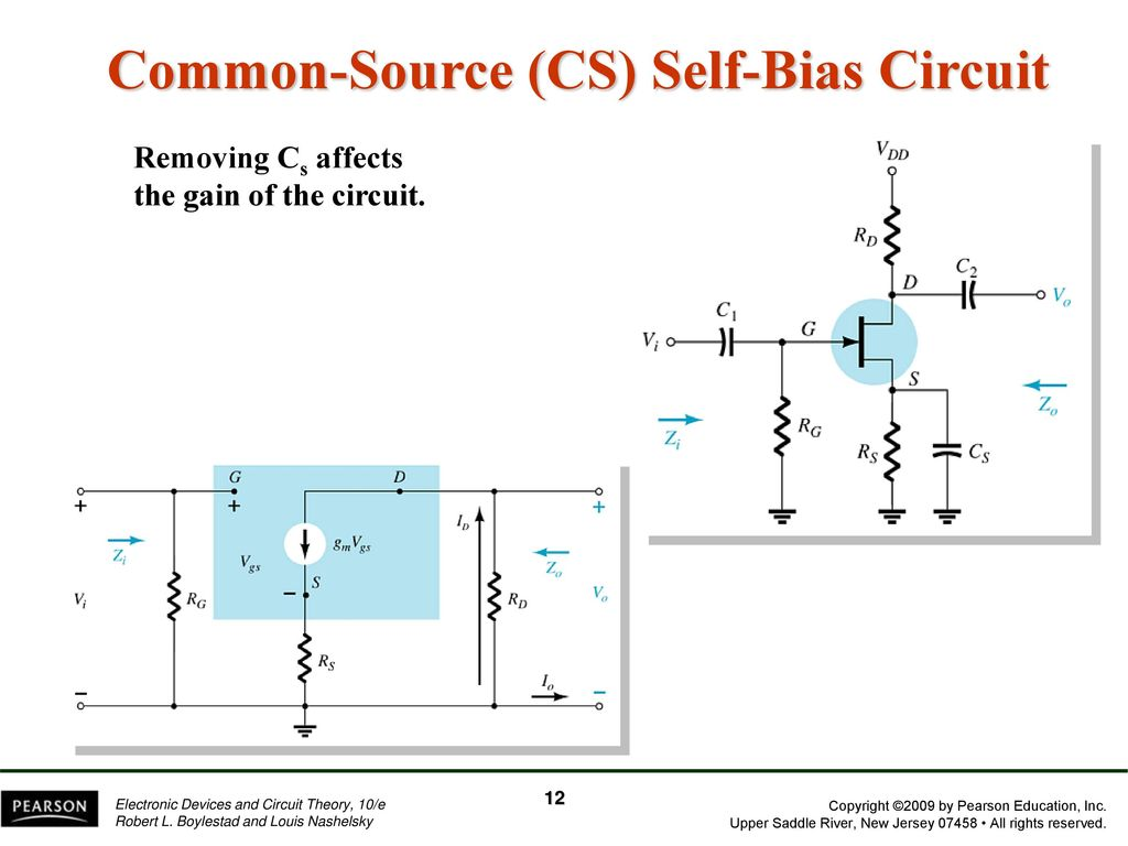 Chapter 8 Fet Amplifiers Ppt Download Pearson Education Electronic Devices And Circuit Theory New Common Source Cs Self Bias