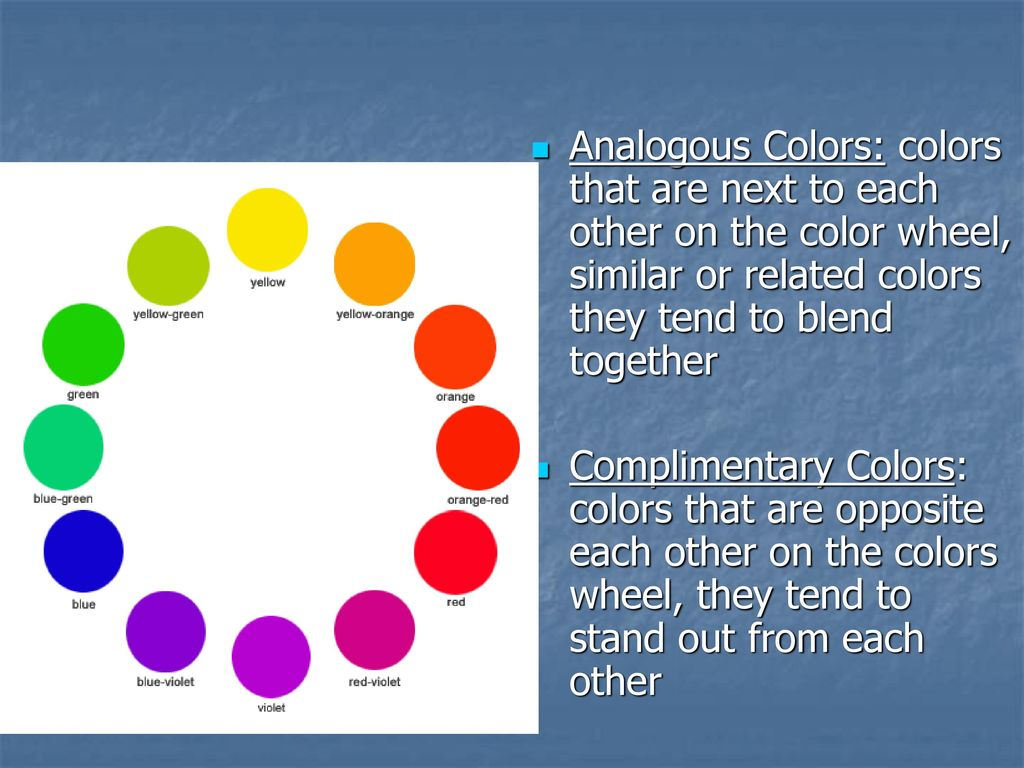 Ogous Colors That Are Next To Each Other On The Color Wheel Similar