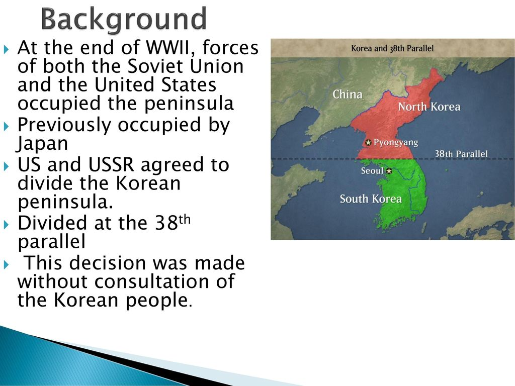 The Korean War Ppt Download - 38th-parallel-us-map
