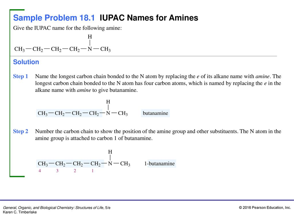 Sample Problem 18 1 IUPAC Names for Amines - ppt download