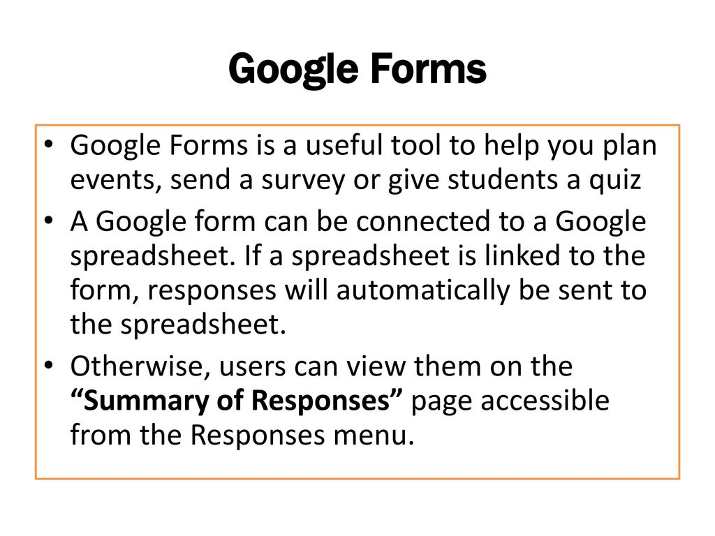 Google Forms  - ppt download