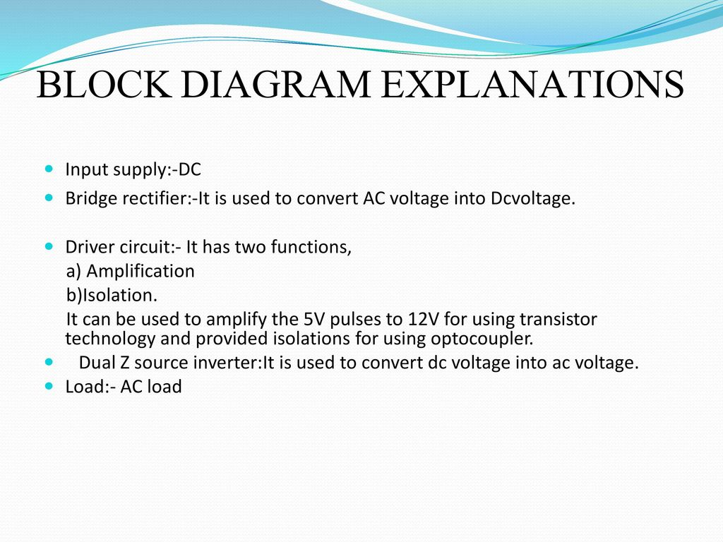 Double Input Z Source Dc Converter Ppt Download Ac Circuit Diagram Block Explanations