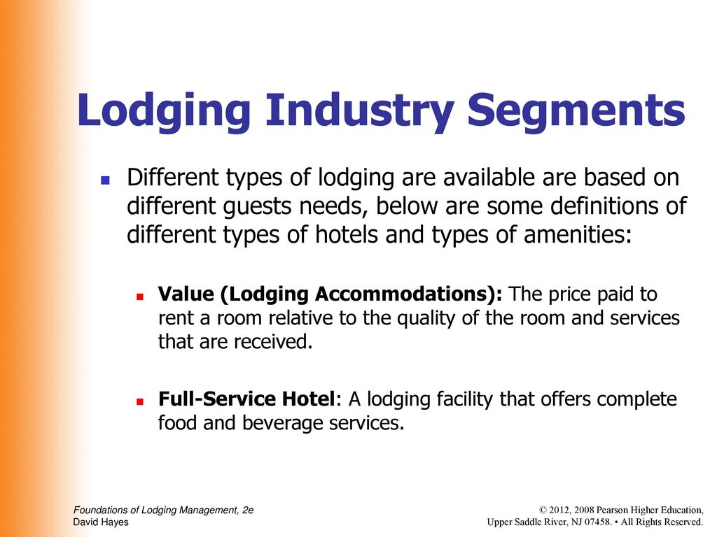 Introduction To The Lodging Industry Ppt Download