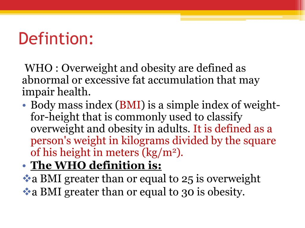obesity. - ppt download