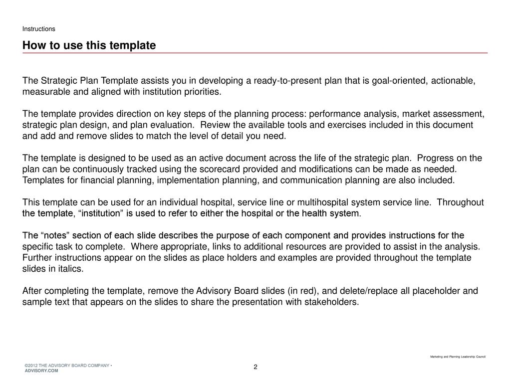 Strategic Plan Template Ppt Download