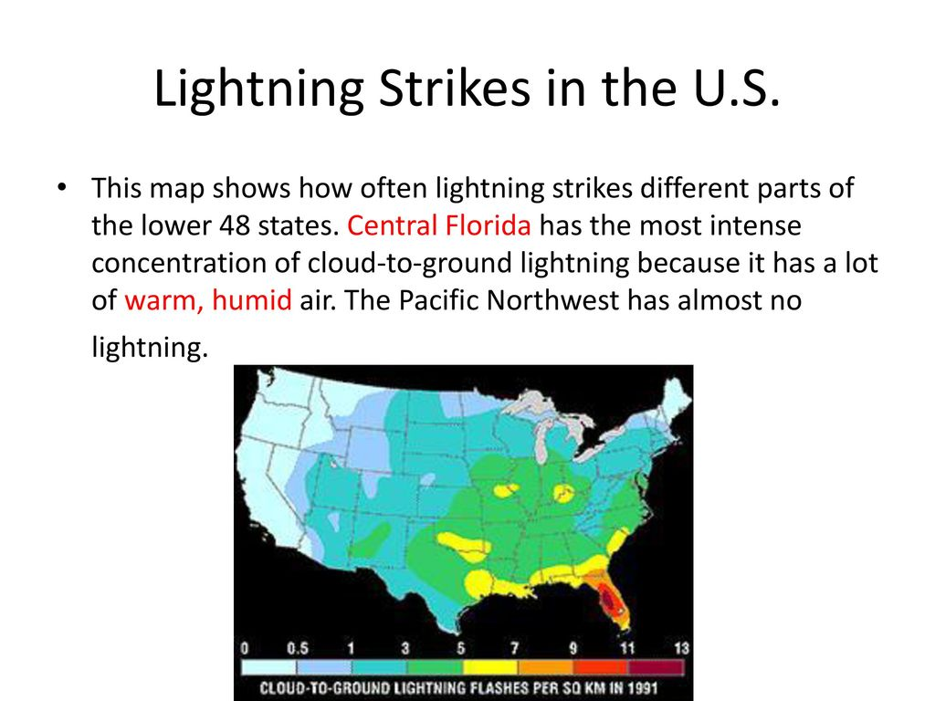 Lightning Strikes Map Florida.Storms Ppt Download