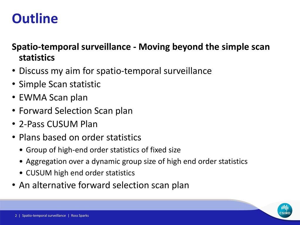 Spatio-temporal surveillance - ppt download