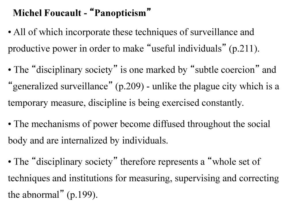 michel foucault panopticism
