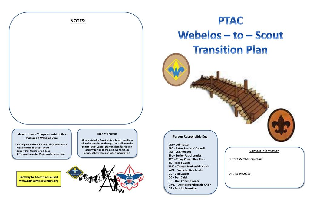 PTAC Webelos To Scout Transition Plan Ppt Download