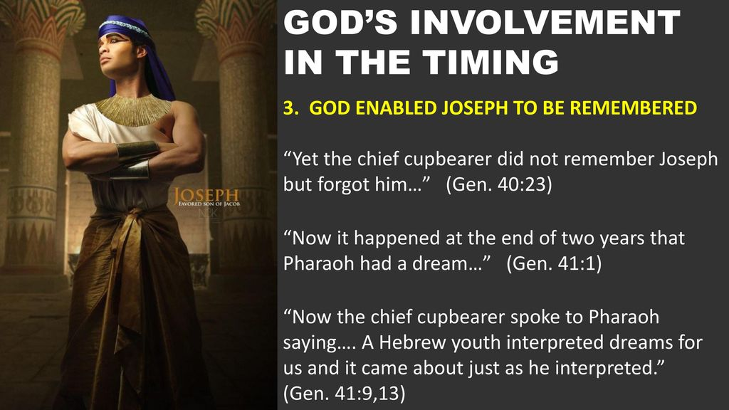 GODS INVOLVEMENT IN THE TIMING