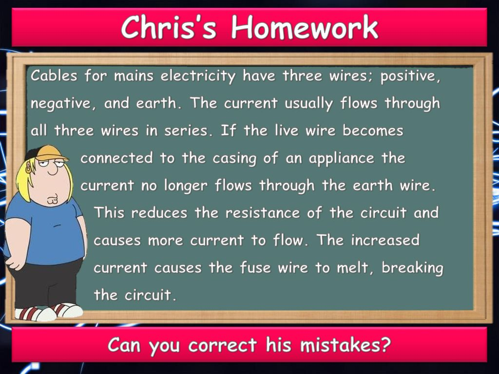Static Circuits Mains Electricity. - ppt download