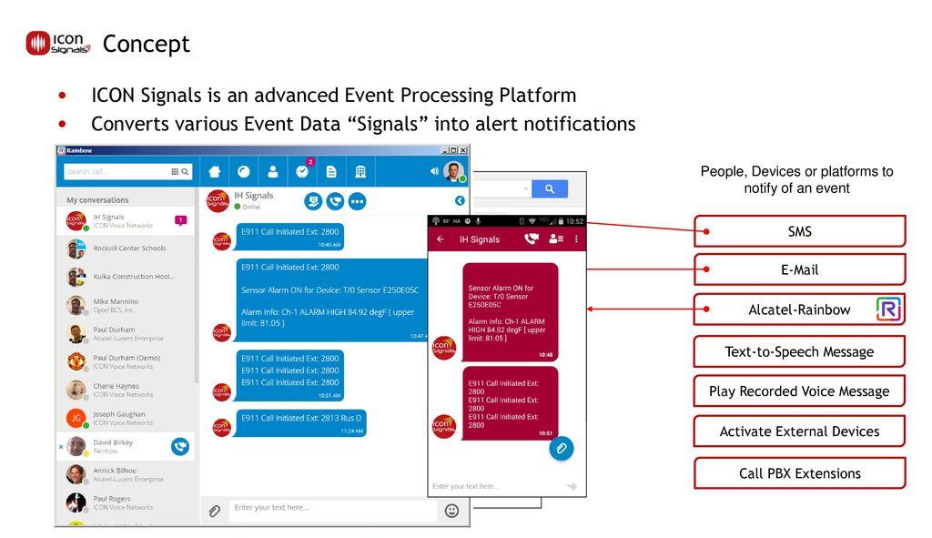 ICON Signals Event Alert Notification Platform Overview