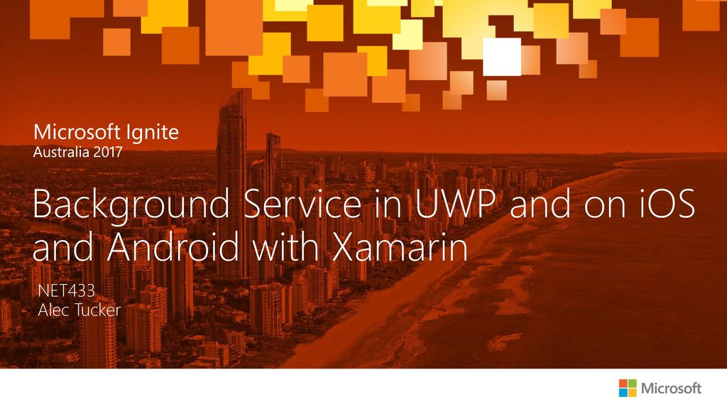 Background Service in UWP and on iOS and Android with Xamarin