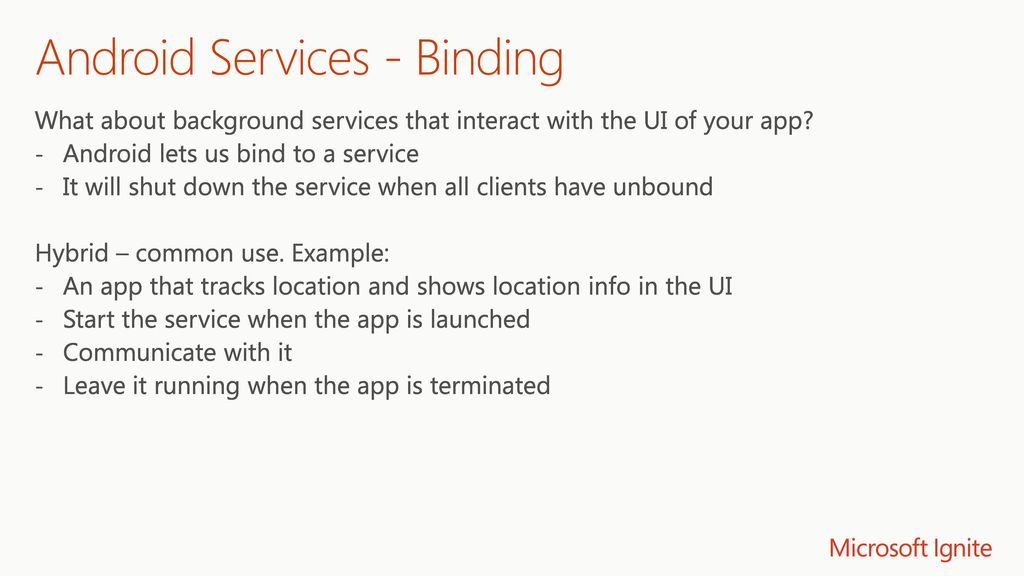 Background Service in UWP and on iOS and Android with Xamarin - ppt