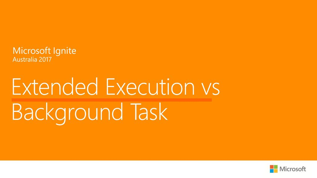Extended Execution vs Background Task