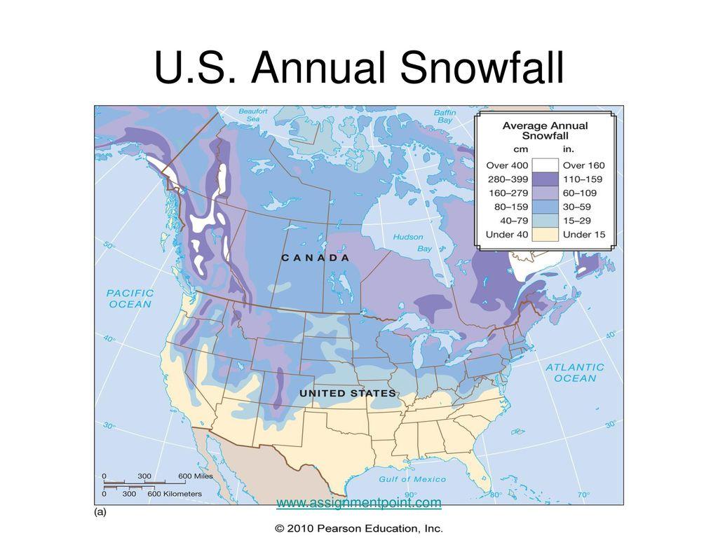 Types Of Precipitation Ppt Download - Average-snowfall-us-map