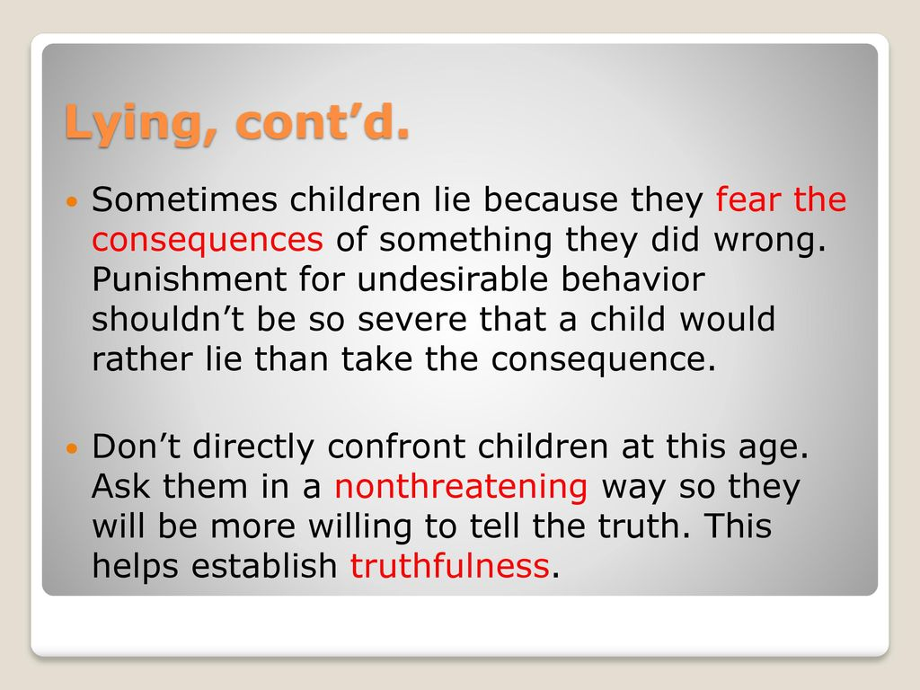 consequences for lying child
