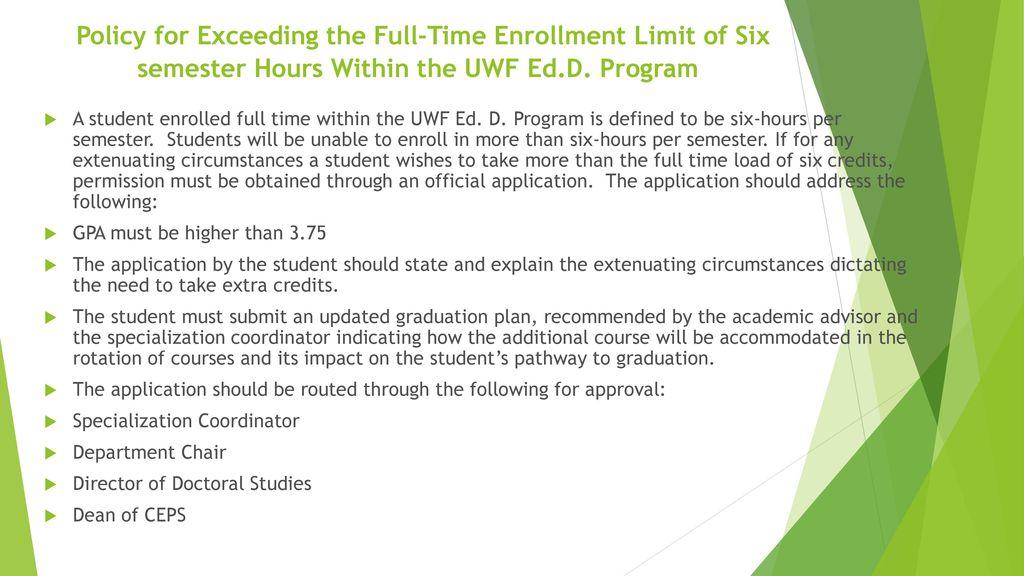 Recent Changes in the UWF Doctoral Program - ppt download