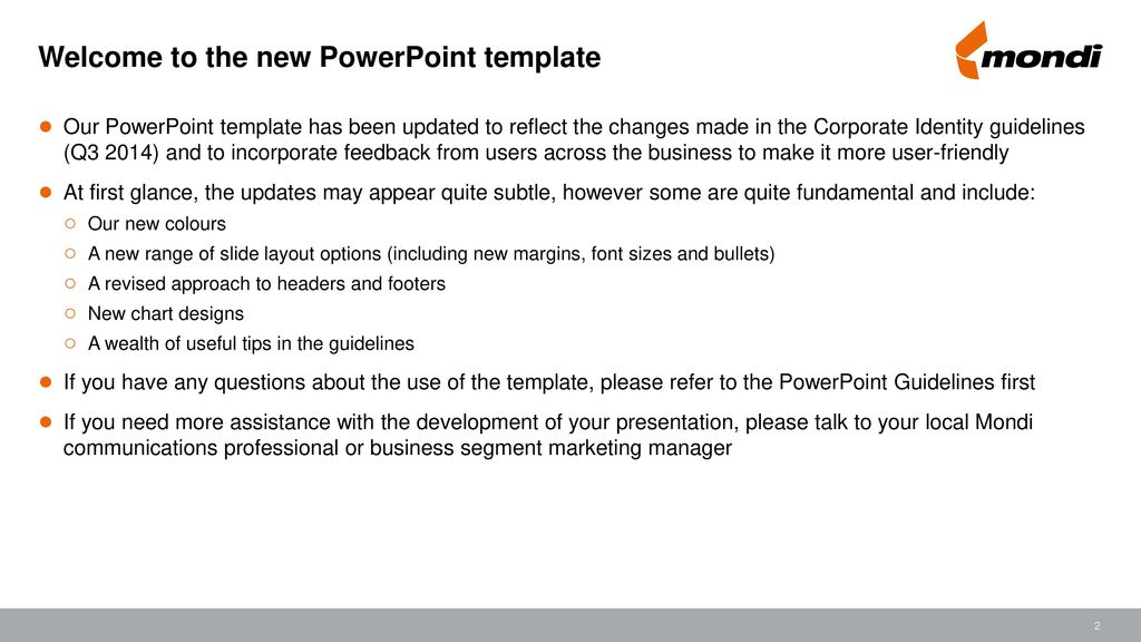 Powerpoint Template For Use When Creating New Powerpoint Materials
