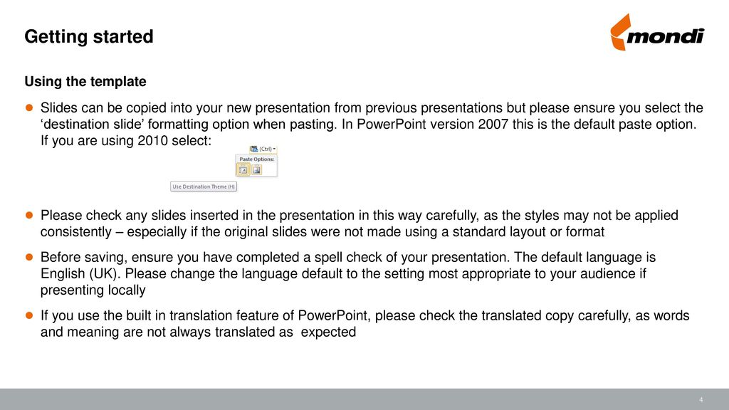 Powerpoint template for use when creating new powerpoint materials getting started using the template toneelgroepblik Gallery
