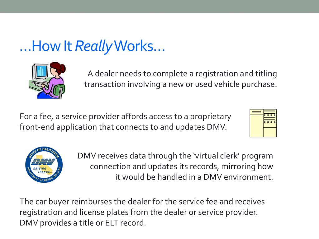 California DMV Vehicle Dealer Programs - ppt download