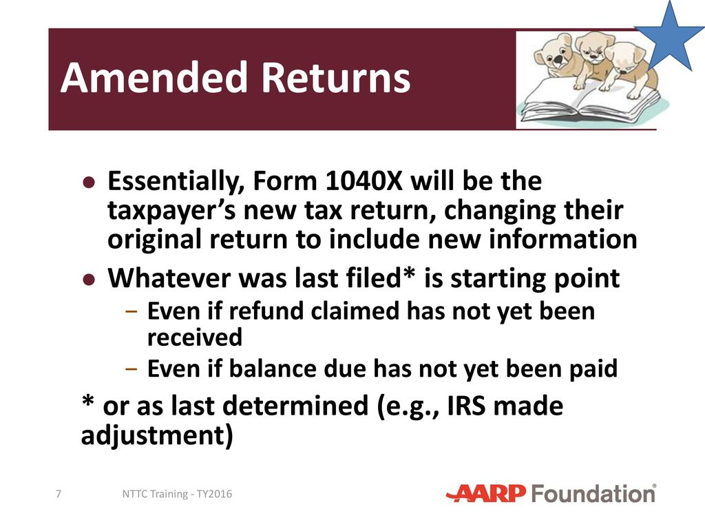 Amended Returns Prior Year Returns - ppt download