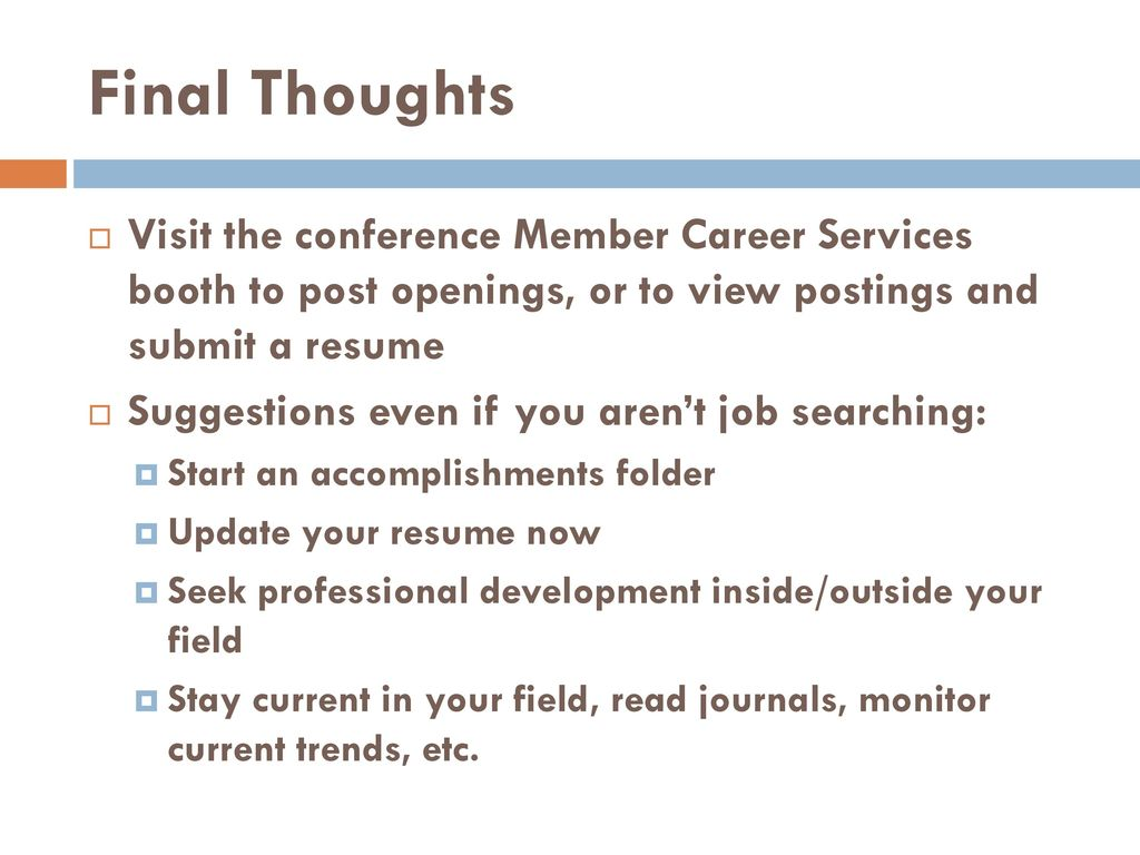 How to conduct an advising job search - ppt download