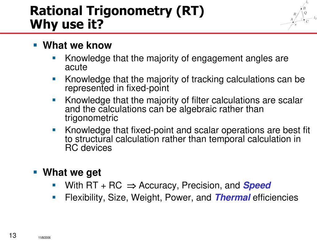 Reconfigurable Computing Machine Implementation of Rational