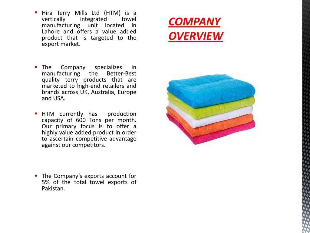 HIRA TERRY MILLS LTD MANUFACTURER OF PREMIUM QUALITY TERRY TOWELS