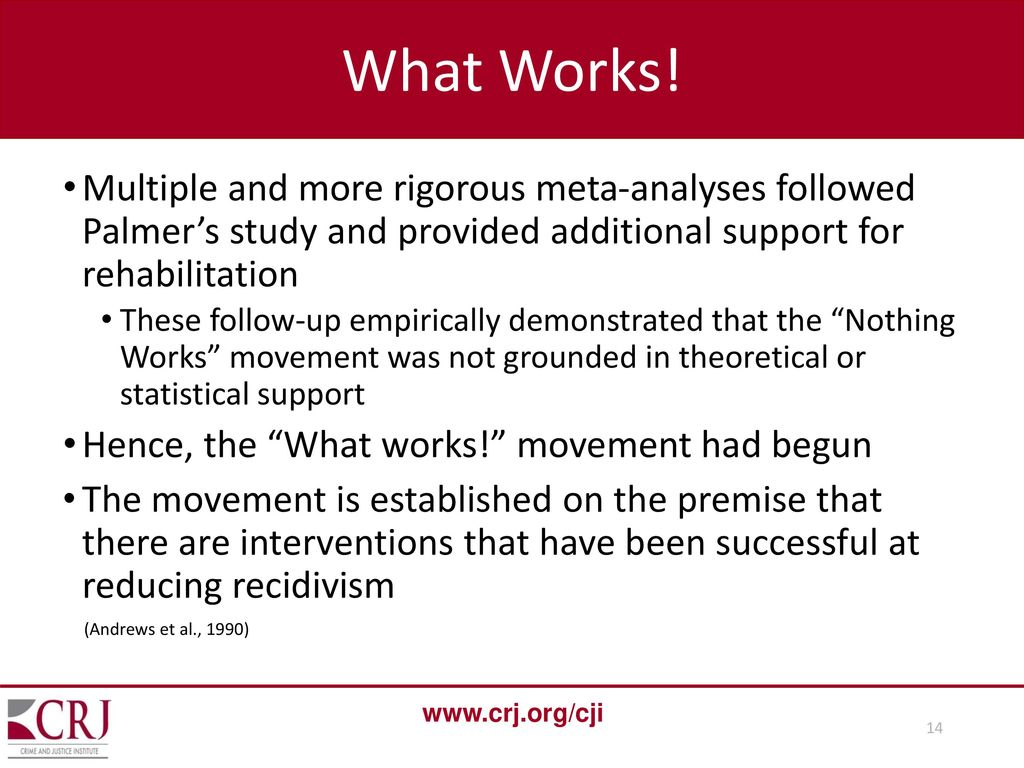 what works movement