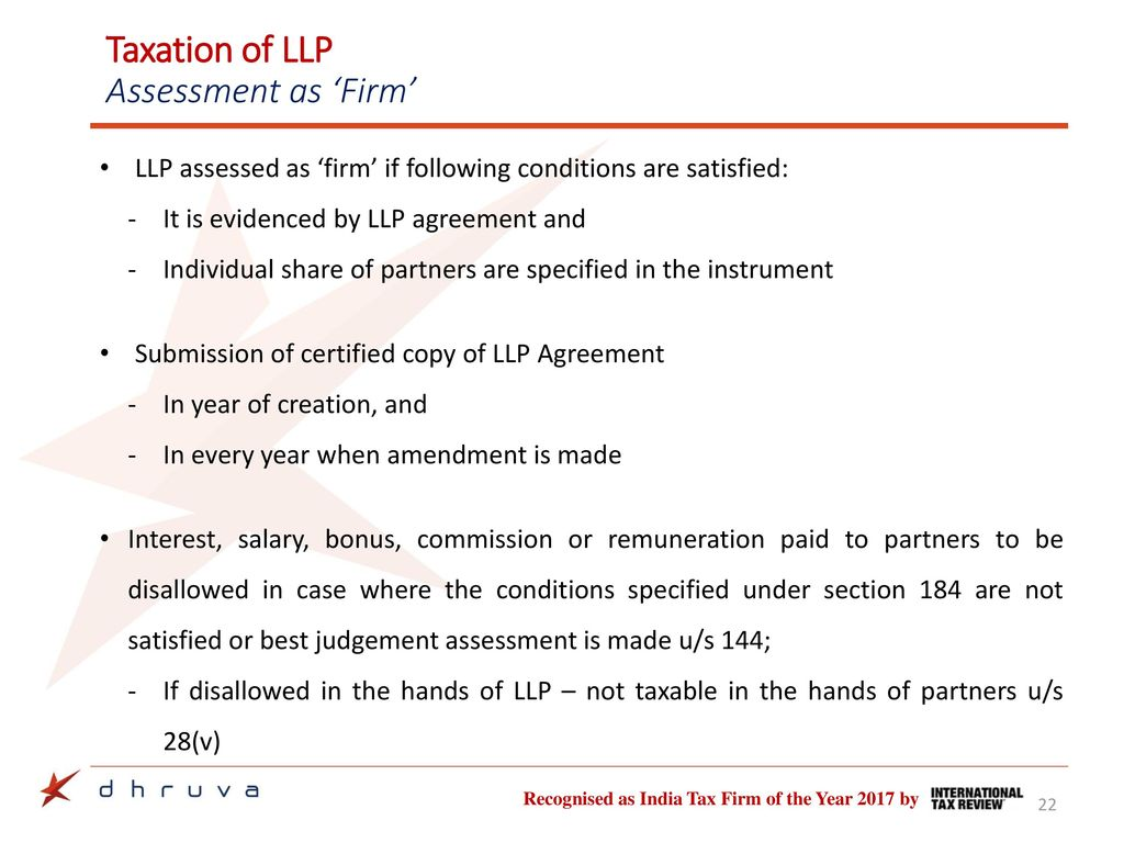 Taxation Of Llps Business Reorganisation Of Llp Ca Saurabh Shah
