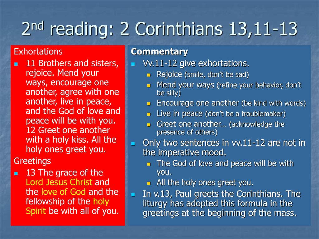 Sunday Readings Commentary And Reflections Ppt Download