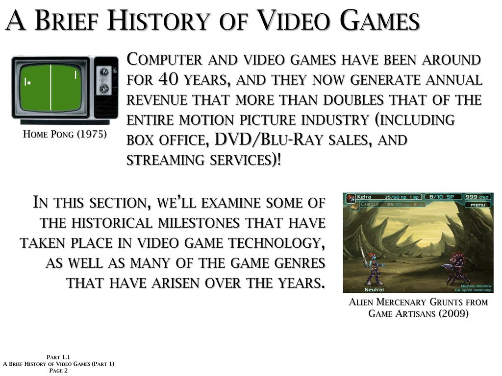 Game Design Development And Technology Ppt Download My First Circuit Board Pong Video A Brief History Of Games Part 1