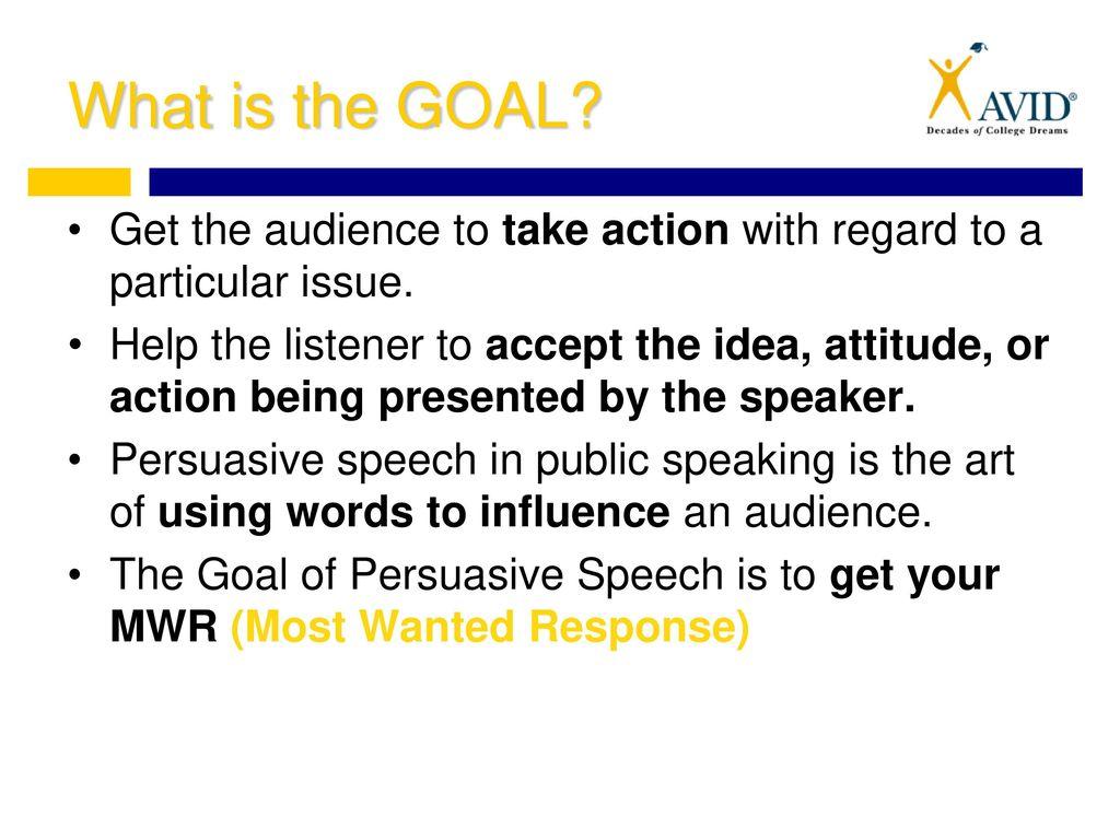 effective persuasive speech