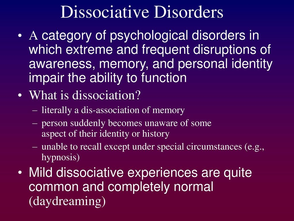 What is dissociation? 80