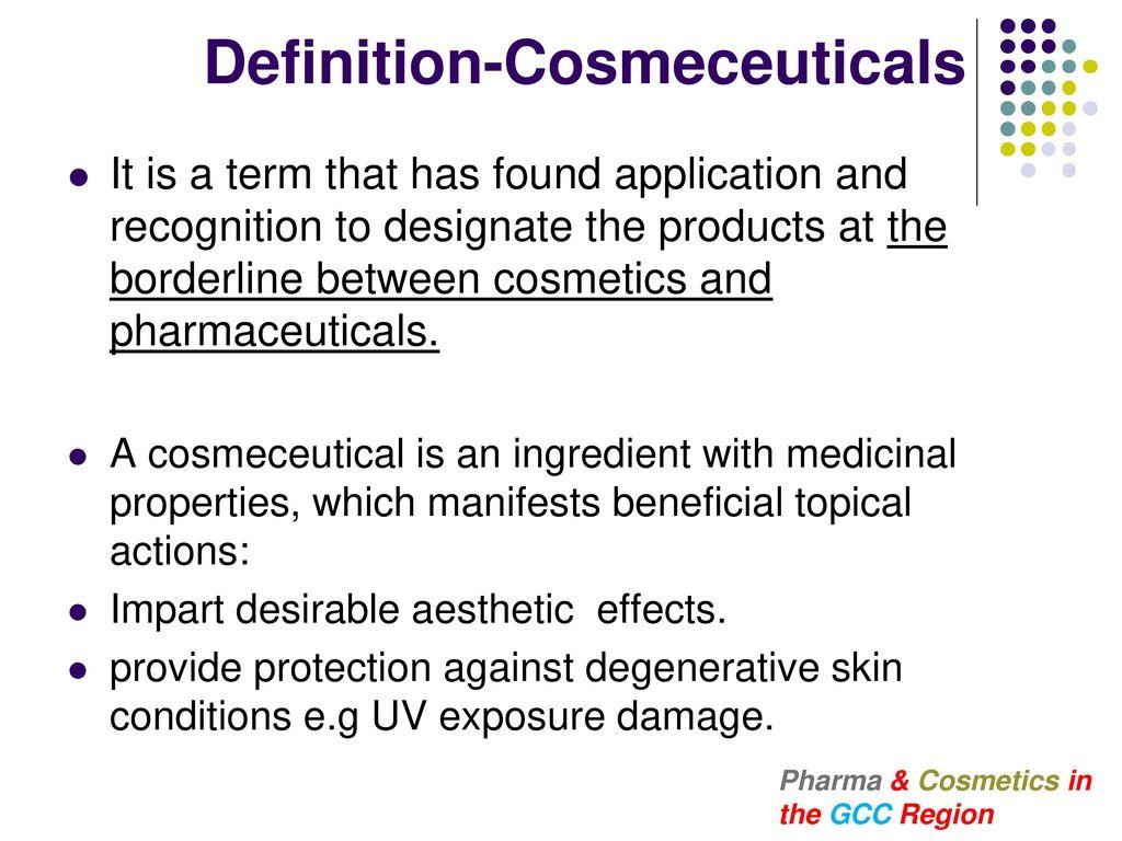 Pharma & Cosmetics in the GCC Region - ppt download