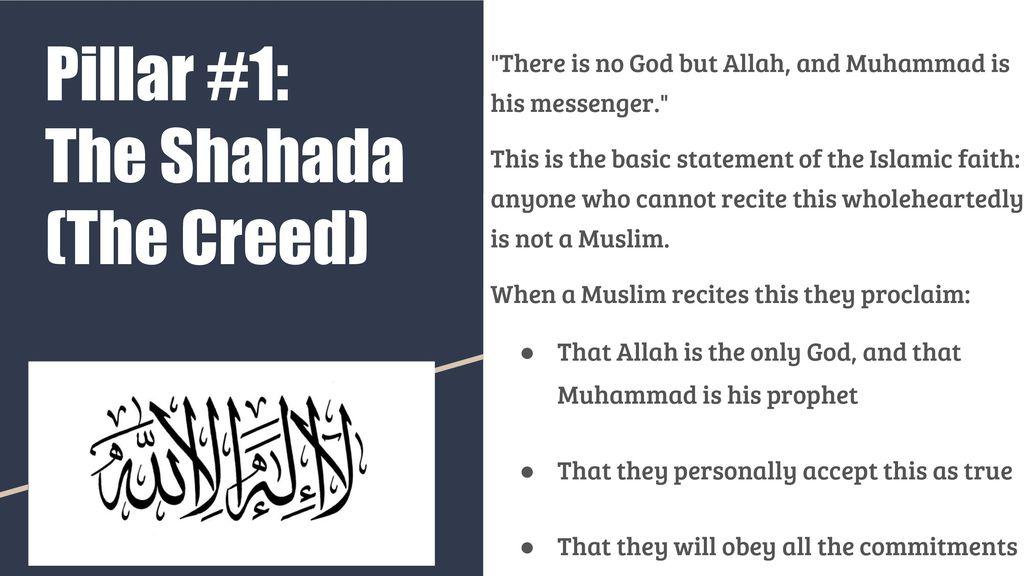 Pillar #1: The Shahada (The Creed) - ppt download