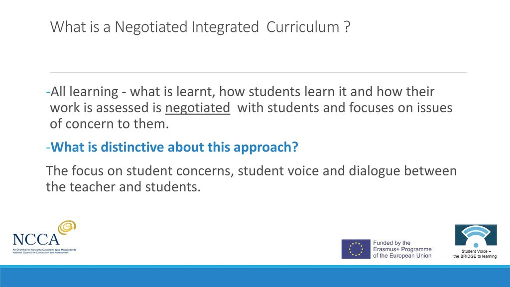 Negotiating The Curriculum Promoting Student Voice And