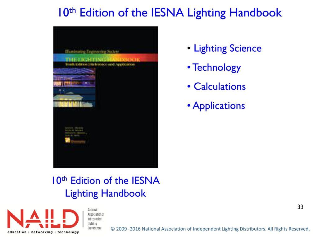 10th Edition Of The IESNA Lighting Handbook